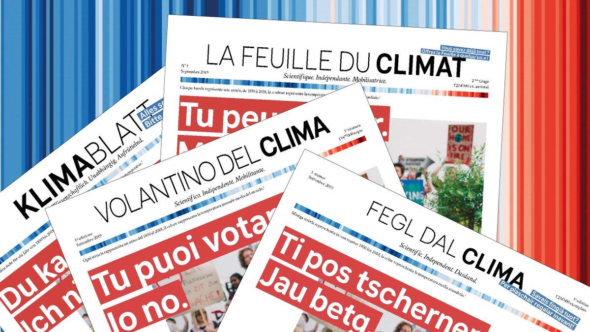 Un journal pro-climat dans les boîtes aux lettres suisses
